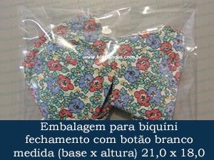 EMBALAGEM COM BOTÃO 21,0 X 18,0 +  5,0 ABA