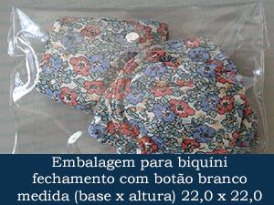 EMBALAGEM COM BOTÃO 22,0 X 22,0 +  4,0 ABA