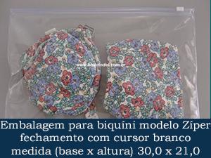 EMBALAGEM COM ZÍPER 30,0 X 21,0